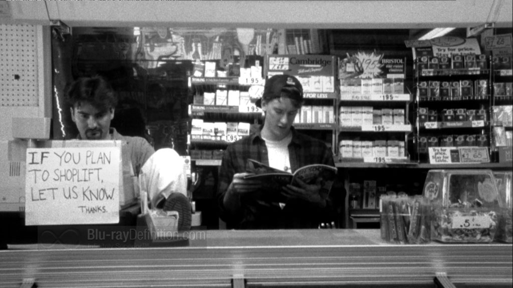 Clerks - inside the shop